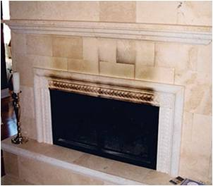how to clean a marble fireplace surround